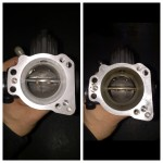 Throttle body before and after being cleaned