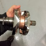 Closeup o engine part after being polished