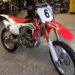 Motocross bike with custom suspension and modified engine