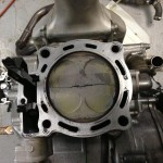 Damaged throttle body for motorcycle