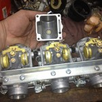 Throttle body system for motorcycle after being cleaned